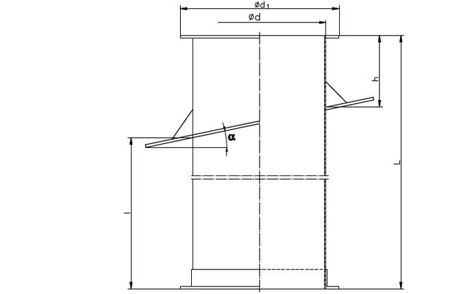 Rysunek wymiary gabarytowe Podstawy dachowej skośnej